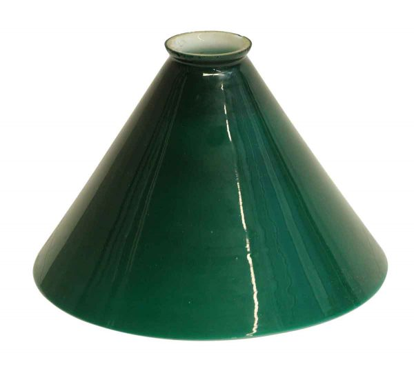 Globes & Shades - Vintage Green 9.25 in. Glass Opaline Shade
