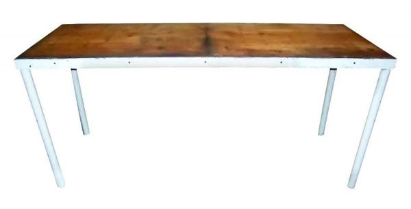 Industrial - Antique 6 ft Industrial Workbench Table