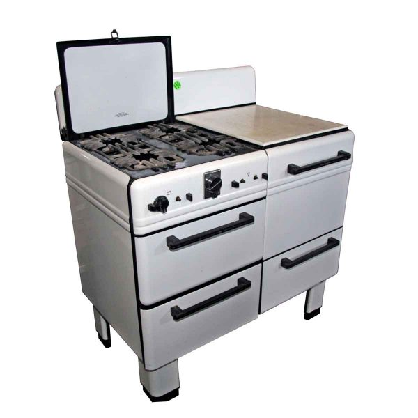 Kitchen - 1930s Prosperity Enamel Oven with Stove Top