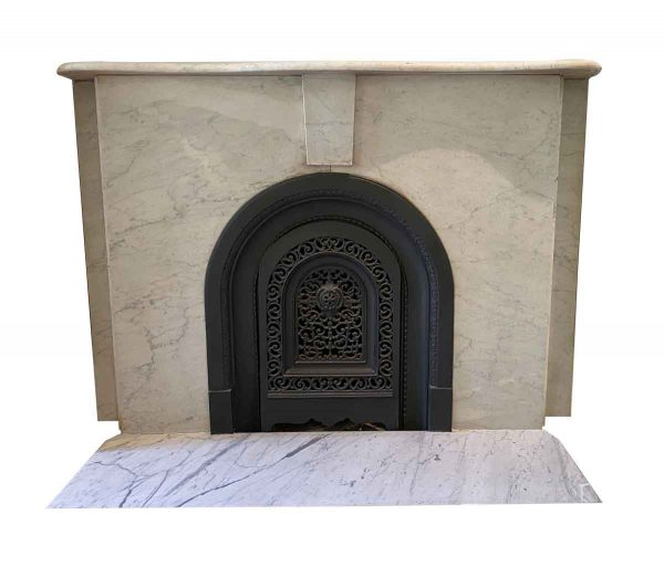 Mantels - Simple Arched NYC Townhouse Marble Mantel