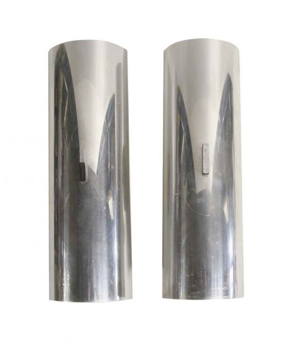 Sconces & Wall Lighting - Pair of Mid Century Modern Aluminum Wall Sconces