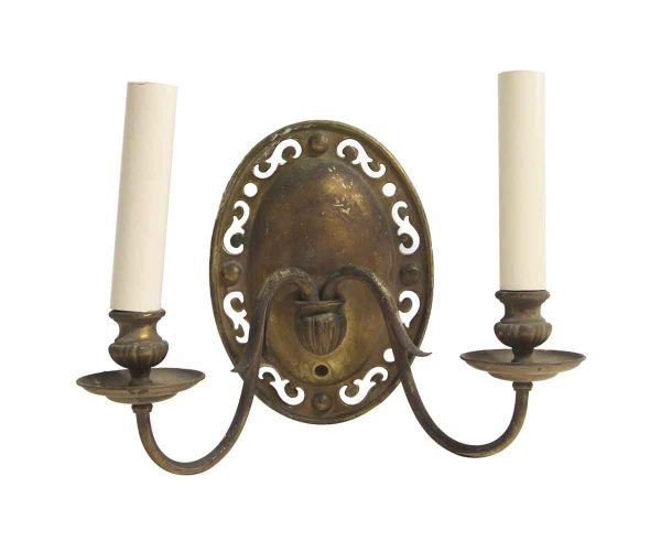 Sconces & Wall Lighting - Single Primitive Cutout Brass Wall Sconce