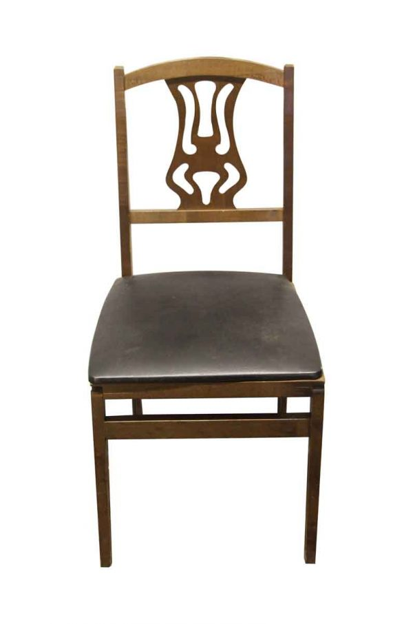 Seating - Wooden Folding Chairs with Carved Back