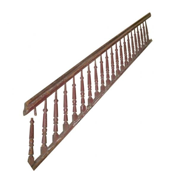 Staircase Elements - Reclaimed 145 in. Wood Stair Railing