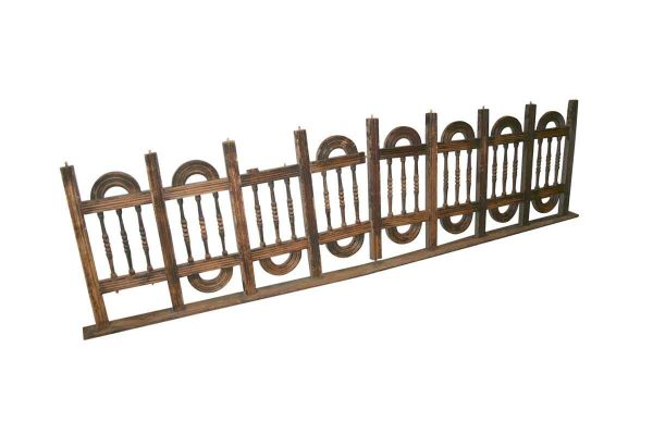 Staircase Elements - Victorian 102 in. Fret Work Wood Railing