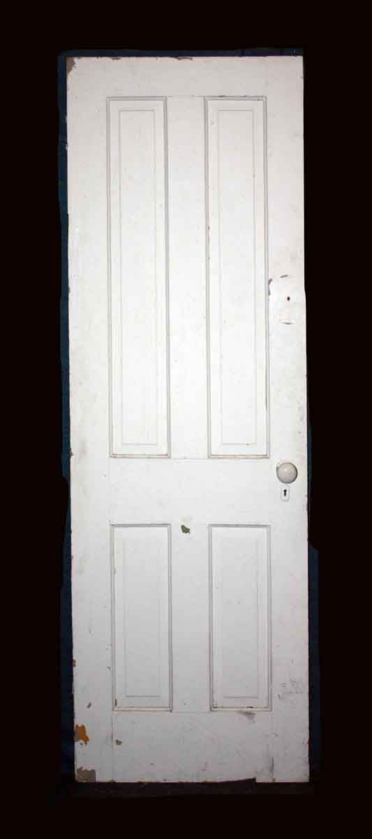 Standard Doors - Antique 4 Pane White Wood Passage Door 77 x 25.75