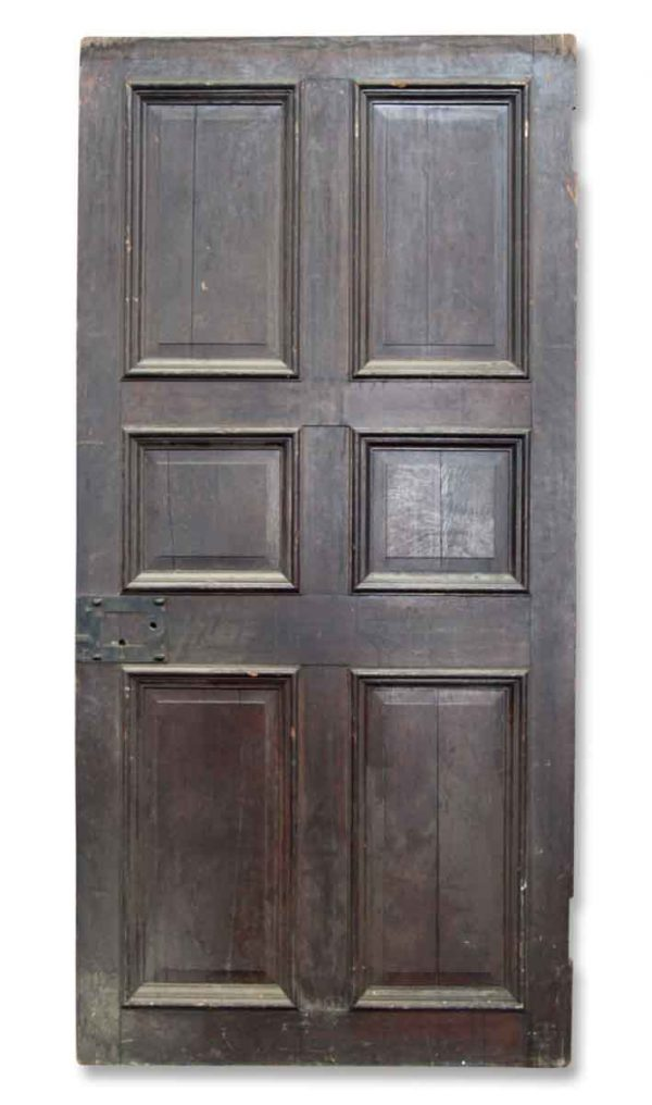 Standard Doors - Antique 6 Pane Wood Passage Door 90.25 x 43.625