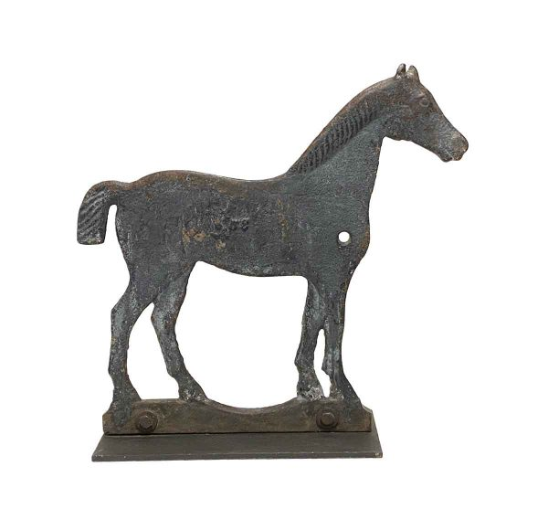 Statues & Sculptures - Cast Iron Windmill Weight Horse with Steel Plate