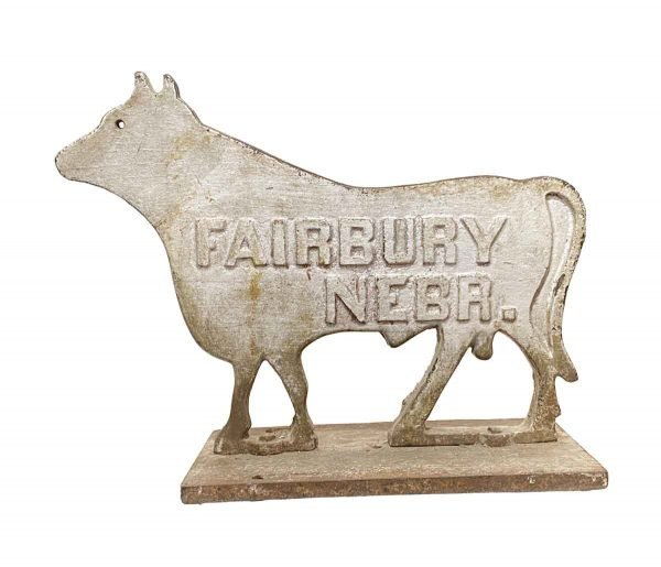 Statues & Sculptures - Large Fairbury Cast Iron Cow Windmill Weight