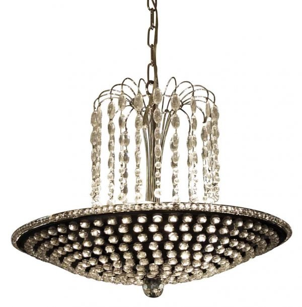 Up Lights - Modern Crystal & Jeweled Pan Pendant Light
