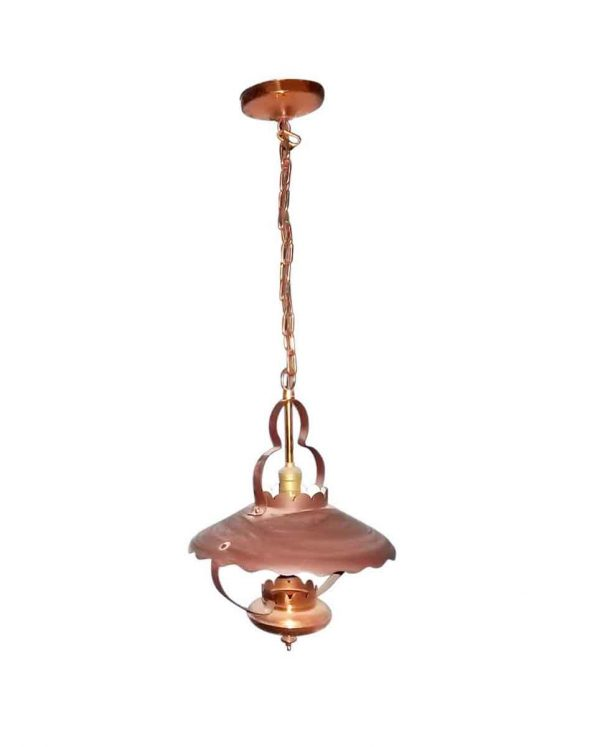Wall & Ceiling Lanterns - Vintage Copper Lantern Style Pendant Light