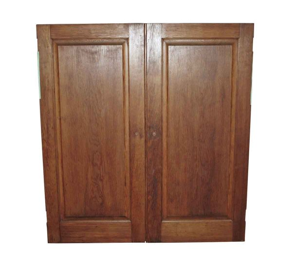 Cabinet Doors - Antique Built in Cabinet Pine Doors 49 x 45.625