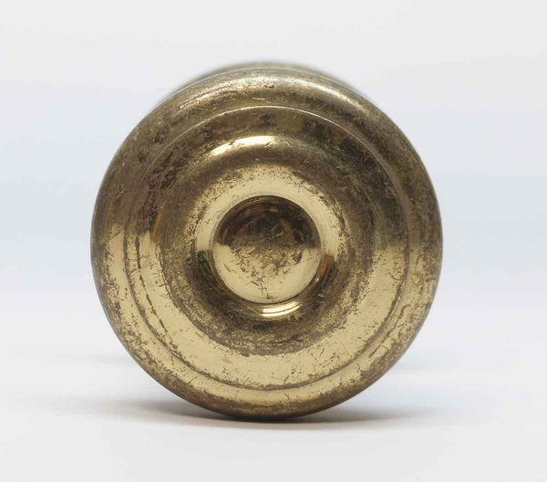 Cabinet & Furniture Knobs - Heavy 2 in. Brass Knob with Rosette