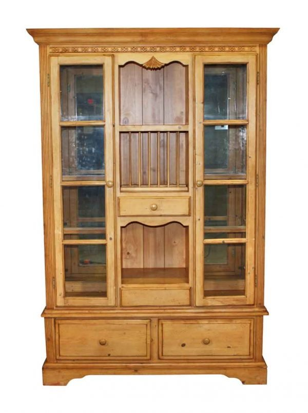 Cabinets - Traditional Pine Storage & Display Cabinet