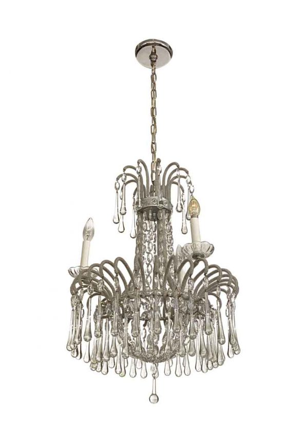 Chandeliers - Venetian 3 Arm Teardrop Crystal Chandelier