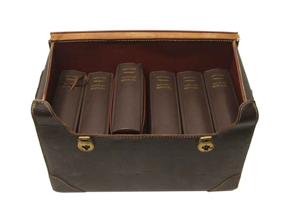 Collectibles - Aviation Book Set in Leather Case