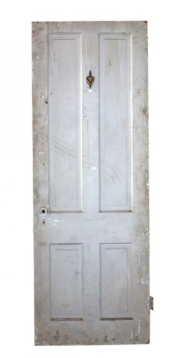 Commercial Doors - Antique 4 Pane Wood Apartment Door 73.75 x 27.5