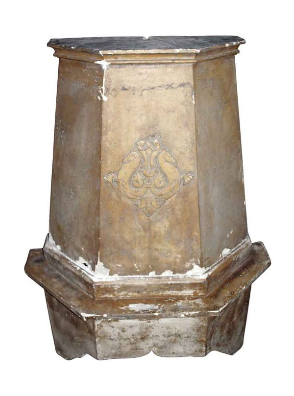 Exterior Materials - Ornate Gold Plaster Fireplace Chimney
