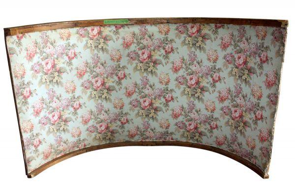 Flooring & Antique Wood - Antique Arched Wood with Floral Fabric