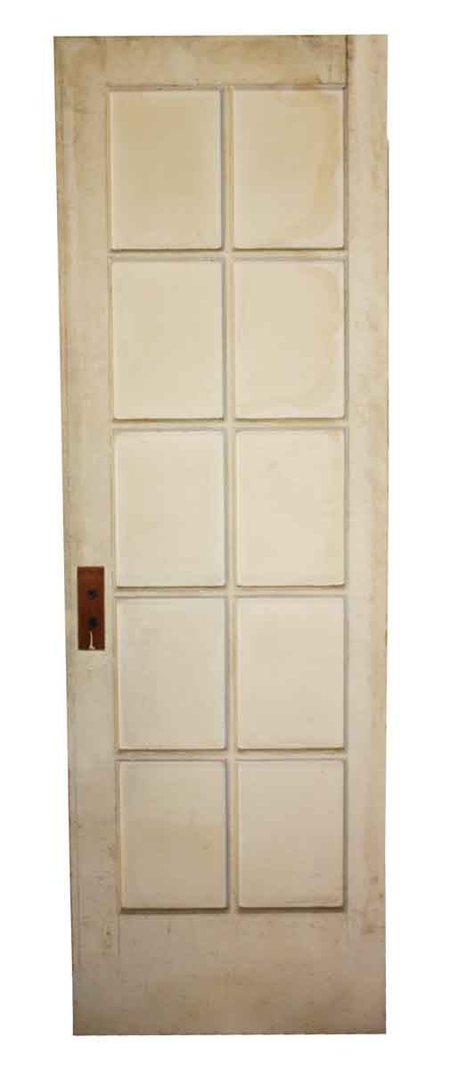 French Doors - Antique 10 Lite Wood French Door 83.25 x 27