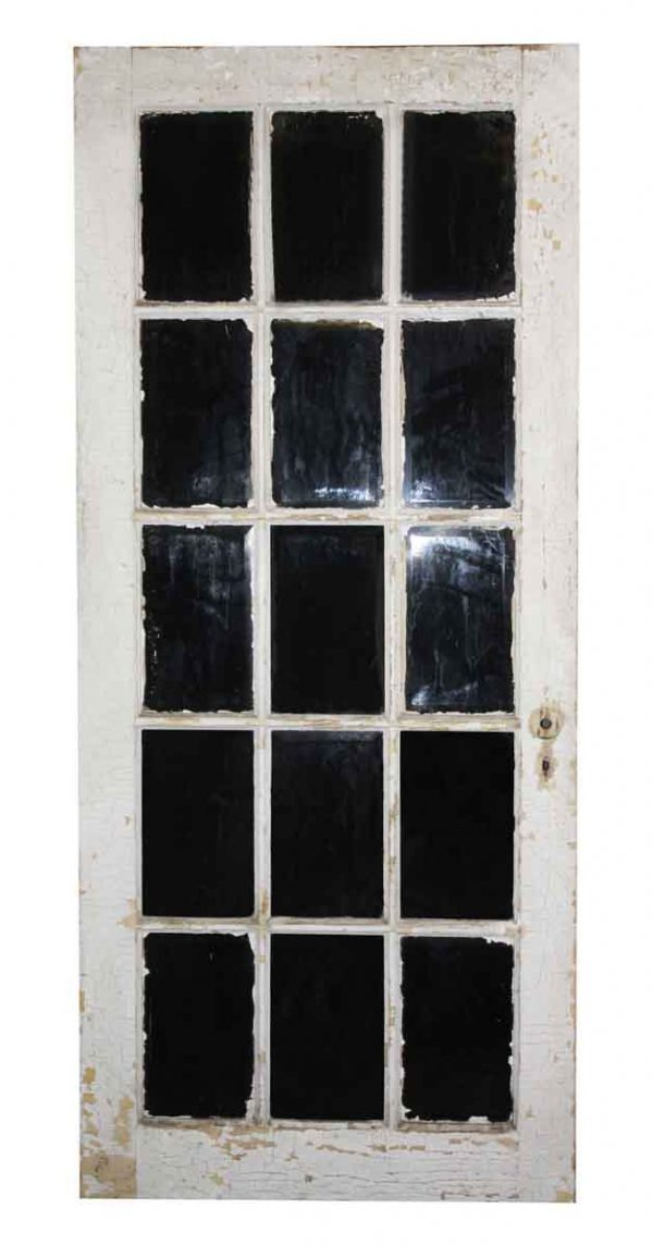 French Doors - Antique 15 Lite Wood French Door 81.5 x 33.75