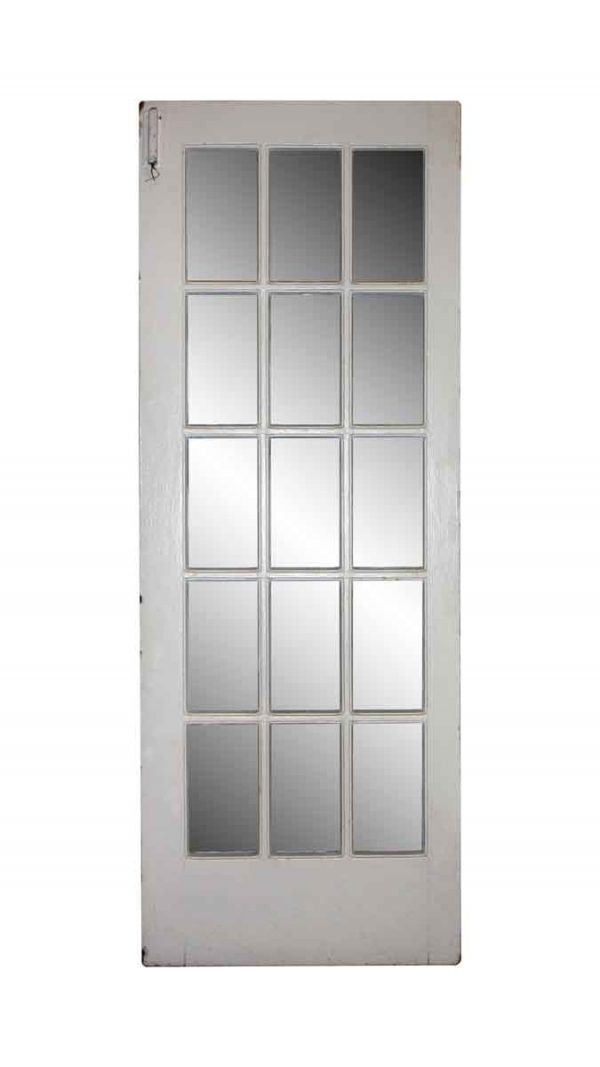 French Doors - Vintage 15 Lite White Wood French Door 83.75 x 31