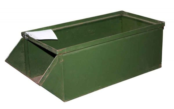 Industrial - Antique Green Steel Industrial Bin