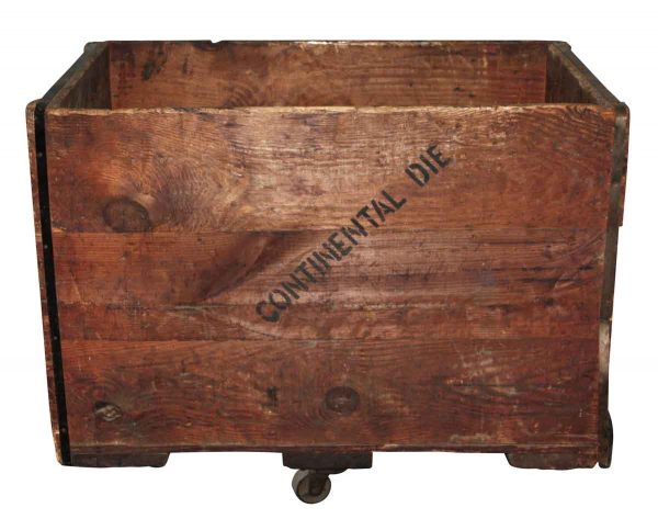 Industrial - Antique Wooden Crate with Wheels