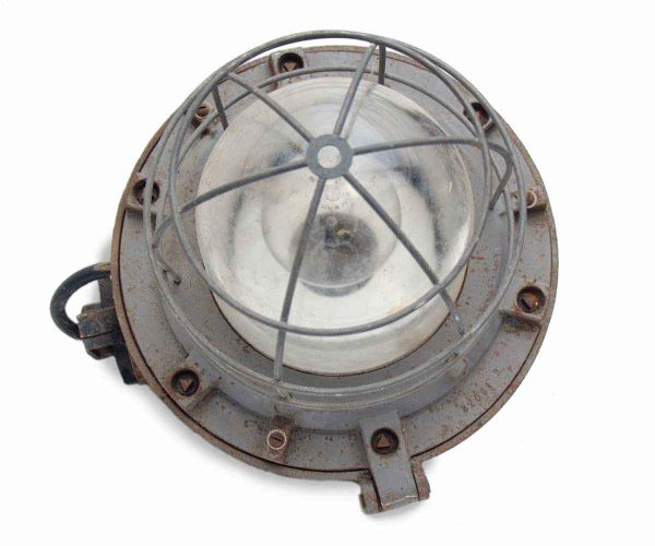 Industrial & Commercial - Petite Industrial Nautical Light with Cage