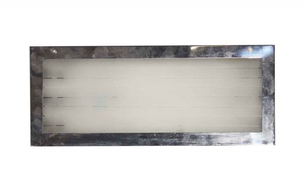 Industrial & Commercial - Recessed Stainless Steel Light with Frosted Glass Front