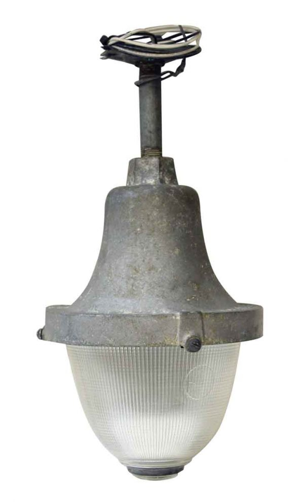 Industrial & Commercial - Vintage Industrial Holophane Prismatic Factory Pendant Light