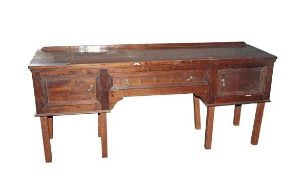Kitchen & Dining - 1950s 6 ft Buffet Wooden Cabinet