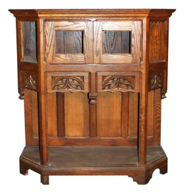 Kitchen & Dining - Gothic Style Small Oak Server