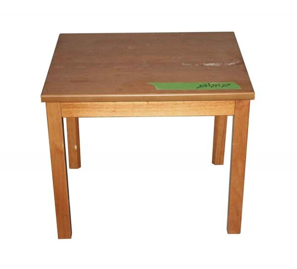Living Room - Reclaimed NYC School 2 ft Side Table