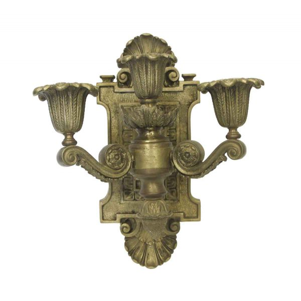 Sconces & Wall Lighting - Antique Heavy Cast Bronze Empire Wall Sconce
