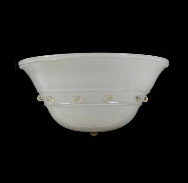Sconces & Wall Lighting - Floral Murano Glass Flush Mount with Gold Flecks & Tulip Motif
