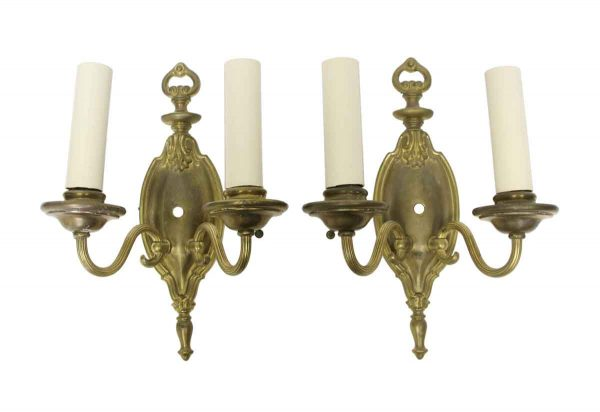 Sconces & Wall Lighting - Turn of the Century Brass Federal Wall Sconces