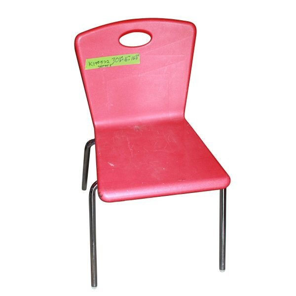 Seating - Vintage Art Deco Red Plastic Chair