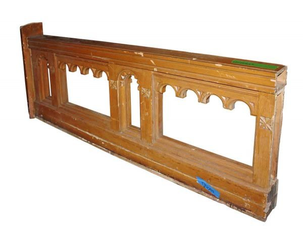 Staircase Elements - Reclaimed 7 ft Pine Gothic Church Railing