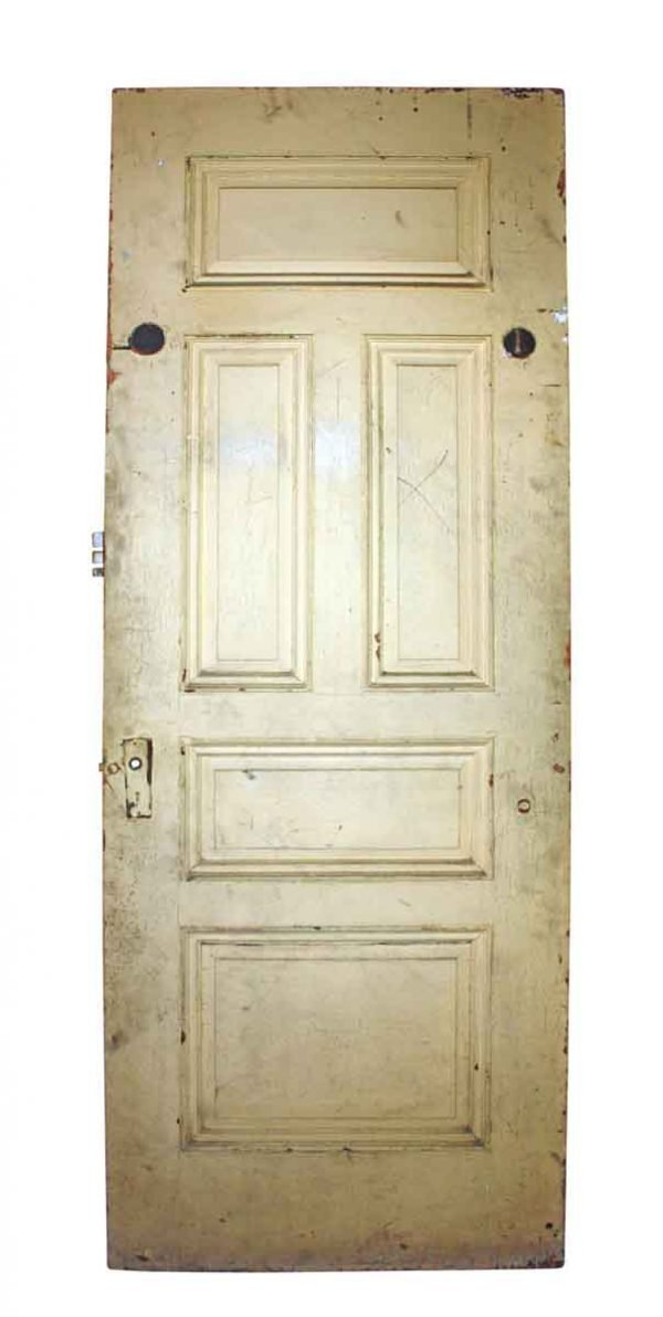 Standard Doors - Antique 5 Pane Wood Privacy Door 83.75 x 30