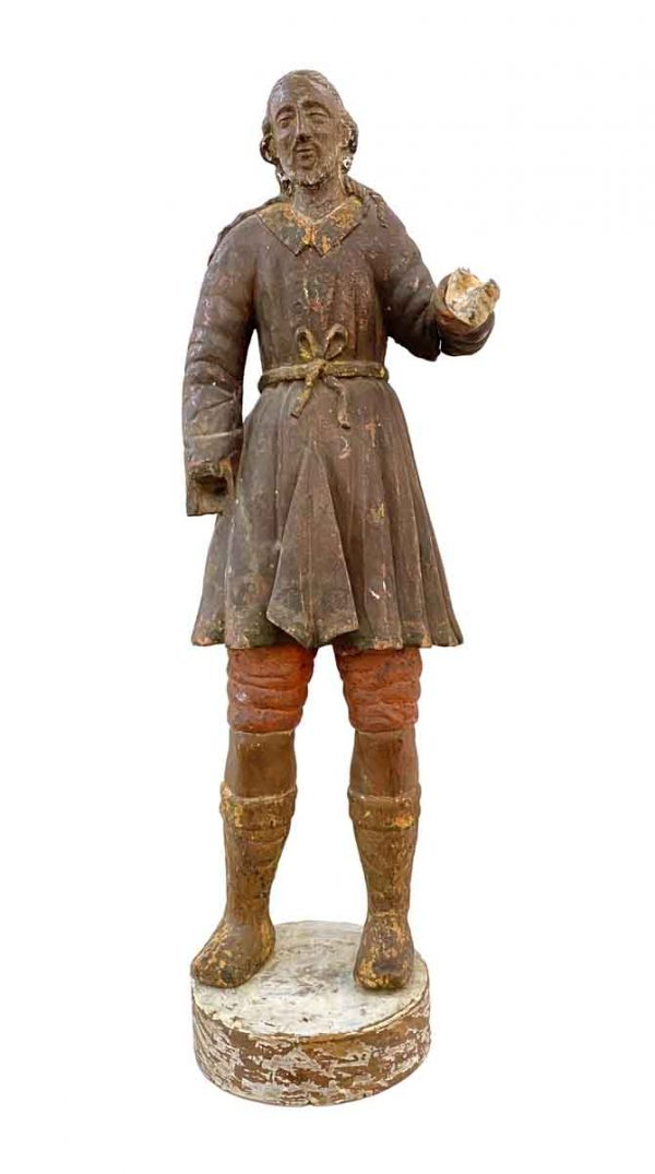 Statues & Sculptures - Antique San Isidro 32 in. Wood Statue