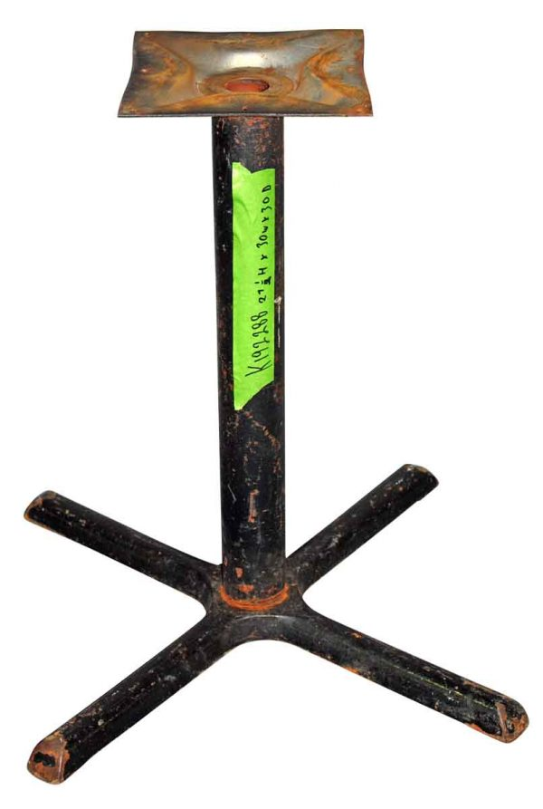 Table Bases - Reclaimed 27.5 in. Black Iron Table Base