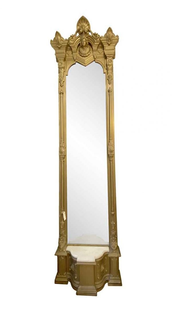 Antique Mirrors - 19th Century Victorian Gold Pier Mirror
