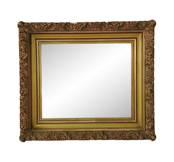 Antique Mirrors - Antique Gold Framed Wood Mirror