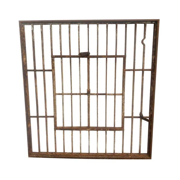 Balconies & Window Guards - Iron Jail Style Window with Double Door Opening 41 x 44