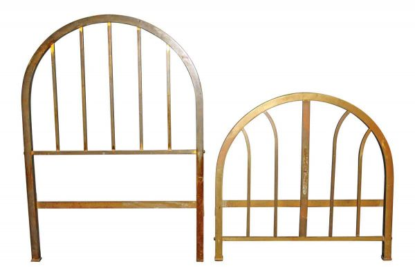 Bedroom - Vintage Brass Twin Floral Bed Frame Set