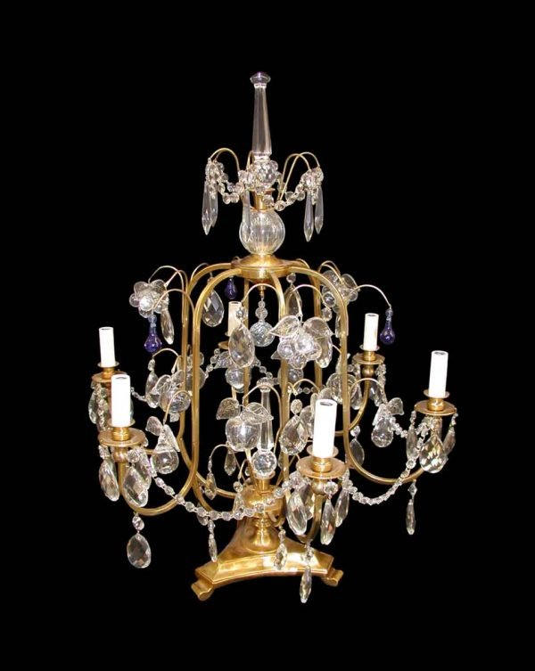 Candelabra Lamps - Argentine Five Arm Crystal Table Lamp