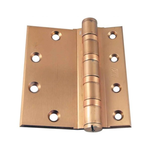 Door Hinges - Old New Brass 5 x 4.5 McKinney Door Hinge with Half Mortise