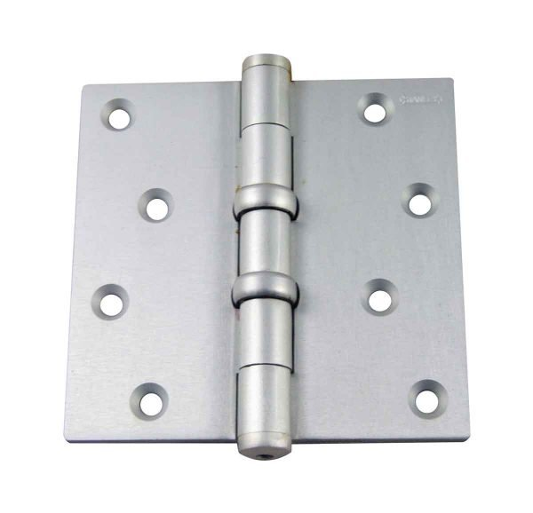Door Hinges - Vintage Stanley Aluminum Satin Butt 4 x 4 Door Hinge