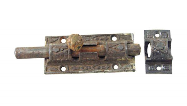 Door Locks - Ornate Victorian Slide Bolt Door Lock